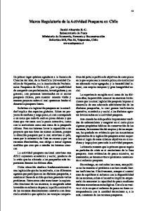 Marco Regulatorio de la Actividad Pesquera en Chile
