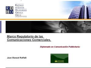 Marco Regulatorio de las Comunicaciones Comerciales