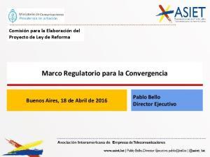 Marco Regulatorio para la Convergencia