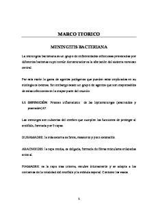 MARCO TEORICO MENINGITIS BACTERIANA