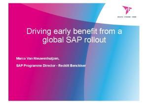 Marco Van Nieuwenhuijzen, SAP Programme Director - Reckitt Benckiser