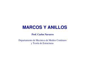 MARCOS Y ANILLOS Prof. Carlos Navarro