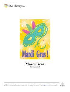 Mardi Gras (intermediate level)