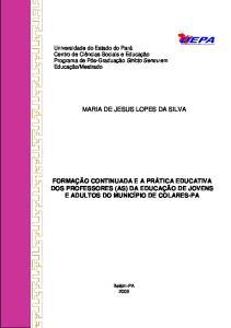 MARIA DE JESUS LOPES DA SILVA