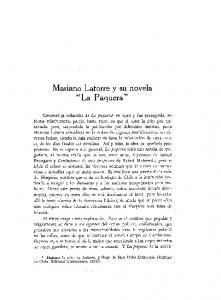 Mariano Latorre y su novela