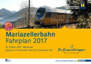 Mariazellerbahn Fahrplan 2017