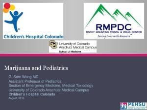 Marijuana and Pediatrics