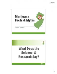 Marijuana Facts & Myths