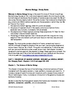 Marine Biology: Study Guide