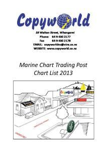 Marine Chart Trading Post Chart List 2013