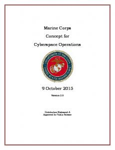 Marine Corps. Concept for. Cyberspace Operations