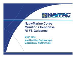 Marine Corps Munitions Response RI-FS Guidance