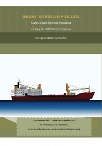 Marine Crane Services Specialist. Company Business Profile