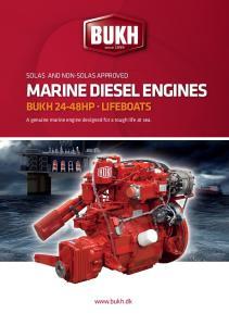 MARINE DIESEL ENGINES BUKH 24-48HP LIFEBOATS