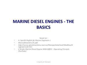 MARINE DIESEL ENGINES - THE BASICS