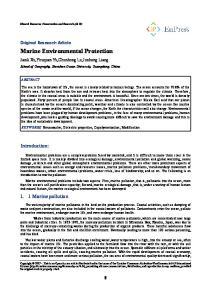 Marine Environmental Protection