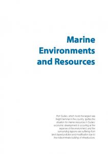 Marine Environments and Resources