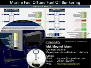 Marine Fuel Oil and Fuel Oil Bunkering