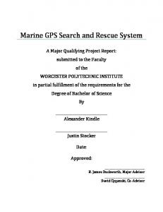 Marine GPS Search and Rescue System