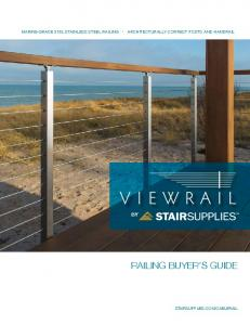MARINE-GRADE 316L STAINLESS STEEL RAILING ARCHITECTURALLY CORRECT POSTS AND HANDRAIL RAILING BUYER S GUIDE STAIRSUPPLIES