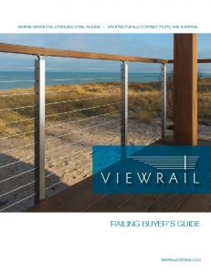 MARINE-GRADE 316L STAINLESS STEEL RAILING ARCHITECTURALLY CORRECT POSTS AND HANDRAIL RAILING BUYER S GUIDE VIEWRAILSYSTEMS.COM