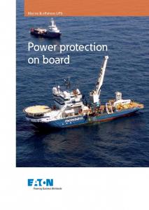 Marine & offshore UPS. Power protection on board