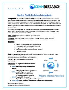 Marine Plastic Pollution is Avoidable