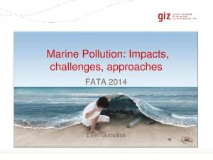 Marine Pollution: Impacts, challenges, approaches