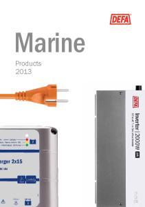 Marine. Products 2013