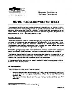 MARINE RESCUE SERVICE FACT SHEET