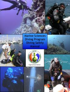 Marine Sciences Diving Program Diving Safety Manual. Organizational Member