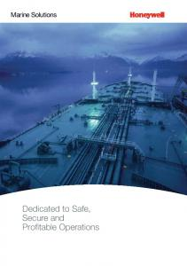 Marine Solutions. Dedicated to Safe, Secure and Profitable Operations