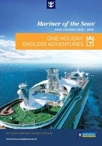 Mariner of the Seas ASIA CRUISES