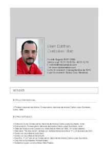 Mario Esteban Curriculum Vitae