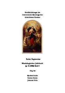 Mariologisches Jahrbuch