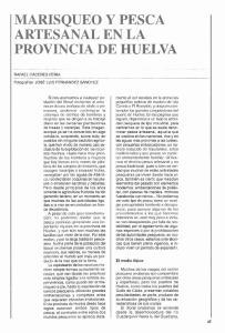 MARISQUEO Y PESCA ARTESANAL EN LA PROVINCIA DE HUELVA