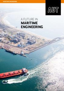 MARITIME ENGINEERING A FUTURE IN