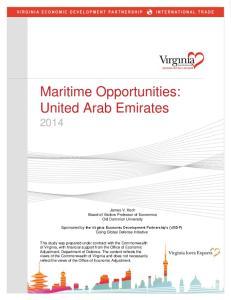 Maritime Opportunities: United Arab Emirates 2014