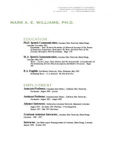 MARK A. E. WILLIAMS, PH.D
