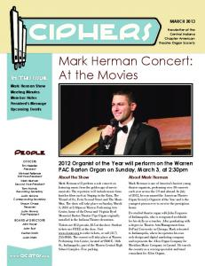 Mark Herman Concert: At the Movies