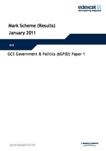 Mark Scheme (Results) January 2011