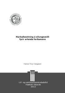 Markaðssetning á silungsveiði fyrir erlenda ferðamenn
