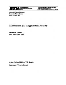 Markerless 3D Augmented Reality