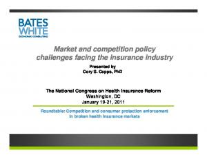 Market and competition policy challenges facing the insurance industry