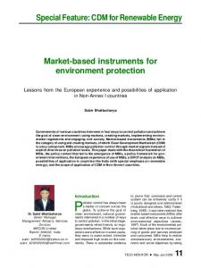 Market-based instruments for environment protection