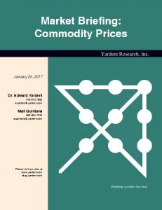 Market Briefing: Commodity Prices