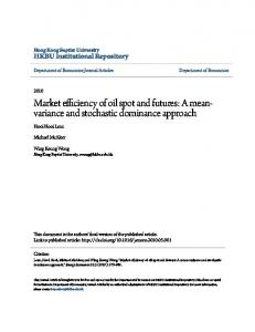 Market efficiency of oil spot and futures: A meanvariance and stochastic dominance approach