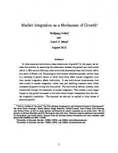 Market Integration as a Mechanism of Growth