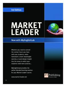 MARKET LEADER. Now with MyEnglishLab. 3rd Edition
