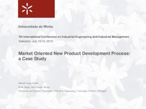 Market Oriented New Product Development Process: a Case Study